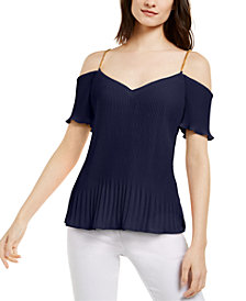 Michael Michael Kors Pleated Chain-Strap Top