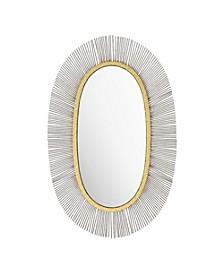 Juju Oval Mirror Black & Gold