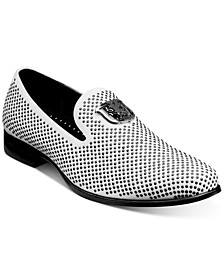 Swagger Studded Fabric Slip-On Shoes