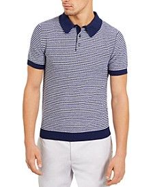 Men's Slim-Fit Skinny Stripe Polo Shirt