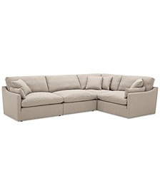"Joud 4-Pc. Fabric ""L"" Shaped Modular Sofa, Created for Macy's"