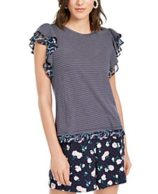 Garden Flutter-Sleeve Top, Created for Macy's