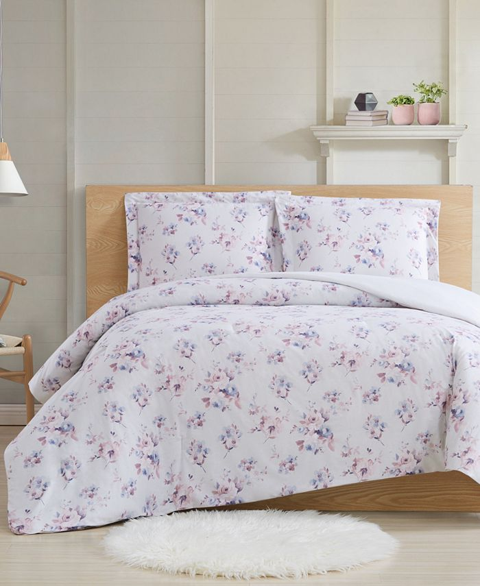 Cottage Classics - Rose Dusk 3-Piece King Comforter Set