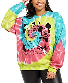Trendy Plus Size Disney Mickey Mouse Tie-Dyed Sweatshirt