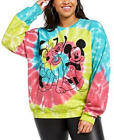Modern Lux Trendy Plus Size Disney Mickey Mouse Tie-Dyed Sweatshirt