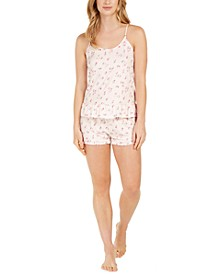 Printed Knit Ruffle Cami & Shorts Pajama Set