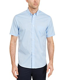 Men's Micro Dot Print Stretch Cotton Shirt, Created for Macy's