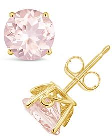 Morganite (2-1/2 ct. t.w.) Stud Earrings in 14K Yellow Gold