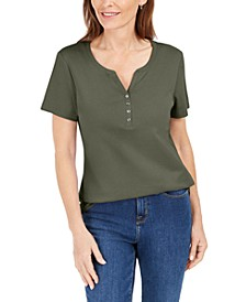 Short Sleeve Henley Top, Created for Macy's