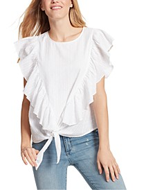 Freeah Ruffle Tie-Front Top