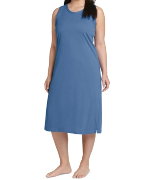 Plus Size Everyday Essentials Cotton Tank Sleepdress Nightgown