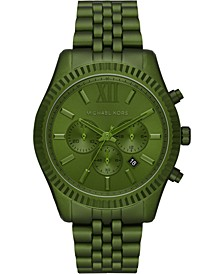 Men's Chronograph Lexington Olive Aluminum Bracelet Watch 44mm