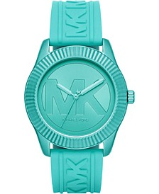 Women's Maddye Aqua Silicone Strap Watch 43mm