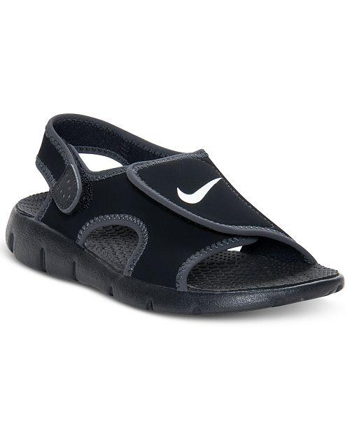 Line Finish Kids Shoes 4 Adjust Sunray Nike Sandals Boys Athletic 841w10
