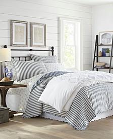 Willow Way Ticking Stripe King Quilt Set