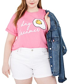 Trendy Plus Size Day Dreamer Cotton Graphic T-Shirt