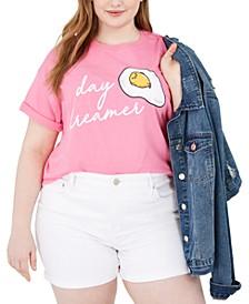 Trendy Plus Size Day Dreamer Cotton Graphic T-Shirt