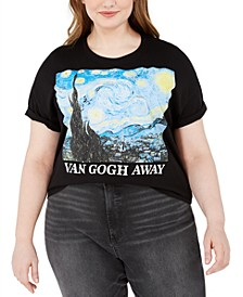 Trendy Plus Size Van Gogh Away Cropped Graphic T-Shirt