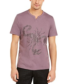 INC Men's Beaded Split Neck T-Shirt, Created for Macy's
