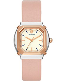 Women's Blake Blush Leather Strap Watch 34mm