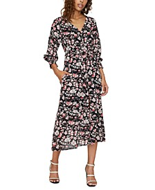 Fontana Floral-Print Midi Dress
