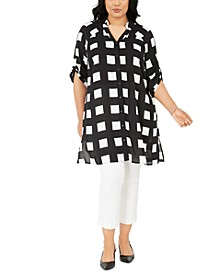 Plus Size Printed Super Tunic, Created for Macy's