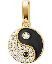 14k Gold-Plated Pavé Yin Yang Charm