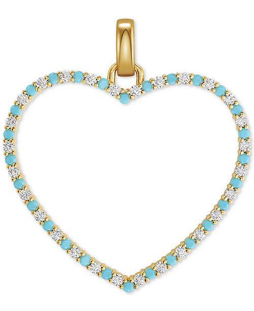 Michael Kors 14k Gold-Plated Pavé & Stone Heart Charm