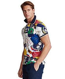 Men's Custom Slim-Fit Graphic Polo