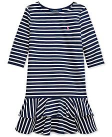 폴로 랄프로렌 Polo Ralph Lauren Big Girls Striped Stretch Jersey Dress