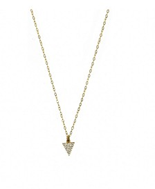 14k Gold Filled Pave Triangle Charm On Chain