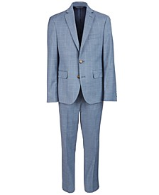 Classic-Fit Blue Windowpane Suit Separates