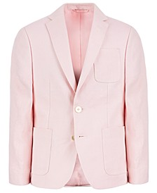 Big Boys Classic-Fit Pink Solid Linen Sport Coat