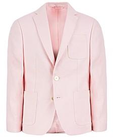 로렌 랄프로렌 보이즈 코트 Lauren Ralph Lauren Big Boys Classic-Fit Pink Solid Linen Sport Coat,Pink