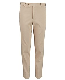 Lauen Ralph Lauren Big Boys Classic-Fit Stetch Tan Solid Dress Pants