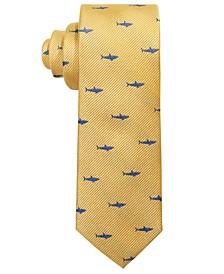 로렌 랄프로렌 보이즈 넥타이 Lauren Ralph Lauren Big Boys Yellow Shark Attack Silk Tie,Yellow