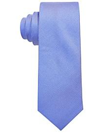 Big Boys Light Blue Solid Silk Oxford Tie