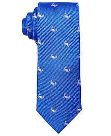 Big Boys Blue Baby Crab Silk Tie