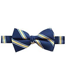 로렌 랄프로렌 보이즈 타이 Lauren Ralph Lauren Big Boys Pre-Tied Stripe Silk Bow Tie,Navy