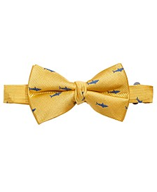 Big Boys Yellow Pre-Tied Shark Attack Silk Bow Tie