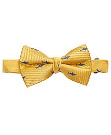 Big Boys Yellow Pre-Tied Shark Attack Silk Bow Tie