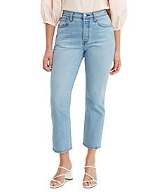 Women's 501 Distressed Skinny Jeans Cropped