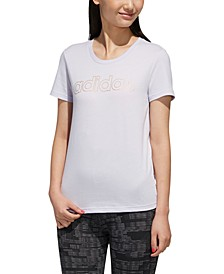 Women's Essentials Cotton Metallic-Logo T-Shirt