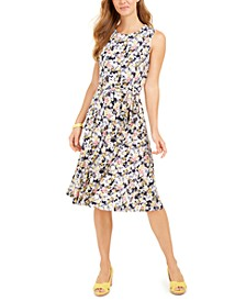 Printed Midi Knit Dress, Created for Macy's
