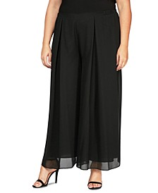 Plus Size Inverted-Pleat Pants