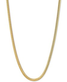 "Snake Link 18"" Chain Necklace in 18k Gold-Plated Sterling Silver"