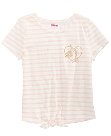 Big Girls Unicorn Striped Tie-Front T-Shirt, Created for Macy's