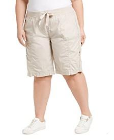 Plus Size Woven Active Shorts