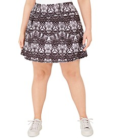 Plus Size Tie-Dyed A-Line Skort, Created for Macy's