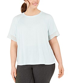 Plus Size Sheer-Cuff T-Shirt, Created for Macy's